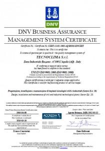 Tecnoclima Group Certificazione Iso 9001