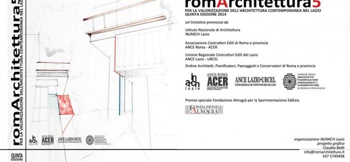 RomArchitettura 2014 – SPECIALE FONDAZIONE ALMAGIÀ PER LA SPERIMENTAZIONE EDILIZIA